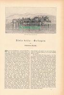 026 Isola Bella Bellagio Cernobbio Artikel Mit 10 Bildern Von 1887 !! - Italy