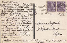 """PYRENEES ORIENTALES CP 1941 PERPIGNAN R.P.OMEC CELEBREZ LE 31 AOUT L""""ANNIVERSAIRE DE LA LEGION SUPERBE COTE 50 EUROS - Postmark Collection (Covers)"""