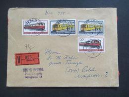 Berlin 1972 Verkehrsmittel MiF Wertbrief V Berlin 41 Nach Polch Gesendet - Cartas