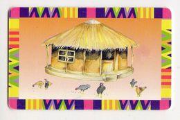 BOTSWANA REF MV CARDS BOT-20 P50 TRADITIONAL HOUSE CN On Chipside - Botsuana