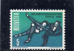 Suisse - Année 1965 - N°YT 755 - Championnats Du Monde De Patinage Artistique, à Davos - Suisse