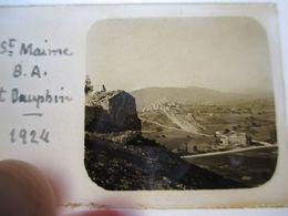 St MAIME (04) Et DAUPHIN - Vue - Plaque De Verre Stéréoscopique 45 X 107 Positive - 1924 - BE - Diapositiva Su Vetro