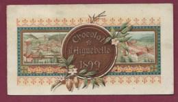050620 - CALENDRIER PETIT FORMAT 1899 CHOCOLAT D'AIGUEBELLE PP TRAPPISTES Monastère - Kalender