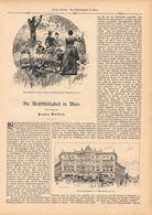 054 Wohltätigkeit In Wien Artikel Mit 15 Bildern Von 1890 !! - Books, Magazines, Comics