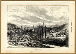 Russian-Turkish War 1878 Montenegro VS Turkey Nikšić Army Panorama View Architecture - Prints & Engravings