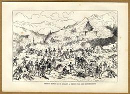 Russian-Turkish War 1878 Montenegro VS Turkey Battle Assault Attack Nikšić - Prints & Engravings