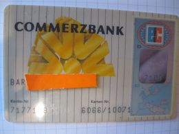 "Carte De Credit "" Tous Pays""commerz Bank"" - Credit Cards (Exp. Date Min. 10 Years)"