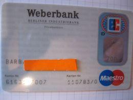 "Carte De Credit "" Tous Pays""weber Bank"" - Credit Cards (Exp. Date Min. 10 Years)"
