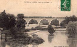 B68054 Cpa Noyen Sur Sarthe - Pont Du Chemin De Fer - Francia