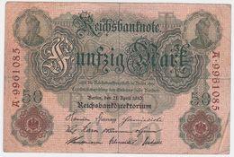 Germany P 41 - 50 Mark 21.4.1910 - Fine+ - 50 Mark