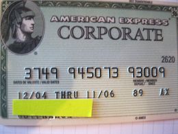 """Carte De Credit """" Tous Pays American Express Corporate   Bank"""" - Credit Cards (Exp. Date Min. 10 Years)"""