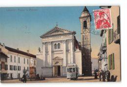 CPA Locarno Piazza S Antonio E Il Tram - TI Tessin