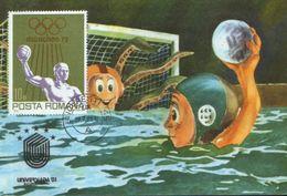 Romania - Maximum Postcard,maxicard 1981 - Sport -  Water Polo - World University Sports Games - Water Polo