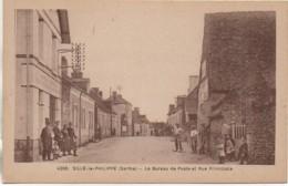 72 SILLE-le-PHILIPPE  Le Bureau De Poste Et Rue Principale - France
