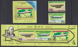 "North Korea - 1979 ""Airships"" (Used) - Sc.# 1787-1789 - Corea Del Nord"