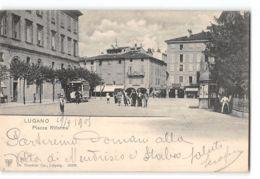 CPA Lugano Piazza Riforma E Il Tram - TI Tessin