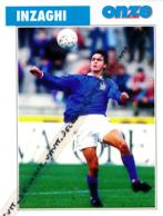 Fiche Football (1997) : FILIPPO INZAGHI (Italie, Piacenza, Leffe, Verona, Parme, Atalanta Bergame, Juventus) Recto-Verso - Collections
