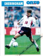 Fiche, Football (1997) : TEDDY SHERINGHAM (Angleterre, Highams, Millwall, Aldershot, Nottingham, Tottenham) Recto-Verso - Collections