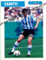 Fiche, Football (1997) : JAVIER ZANETTI (Buenos Aires, Talleres, Banfield, Inter De Milan) Recto-Verso - Collections