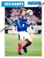 Fiche, Football (1997) : DIDIER DESCHAMPS (Bayonne, Nantes, Marseille, Bordeaux, Juventus De Turin) Recto-Verso - Collections