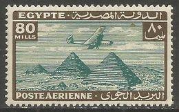 Egypt  - 1933 Airplane Over Pyramids 80m MH * - Nuovi