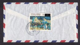 Honduras: Registered Airmail Cover To Germany, 1973, 2 Stamps, Rare Overprint Freemasonry, Rare Real Use (traces Of Use) - Honduras