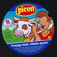 """Etiquette Fromage  Fondu Picon 8 Portions """" Vache, Enfant, Portion De Fromage"""" - Käse"""