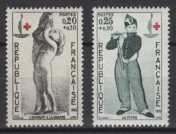 France: 1963. Y&T  N° 1400/01 ** MNH, Neuf(s). Cote Y&T 2020 : 2 € - Neufs