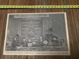 ANNEES 20/30 STAND DES ETABLISSEMENTS RADIO CECILIA LUCIEN DEWERSE 62 RUE FAIDHERBE  A LILLE - Collections