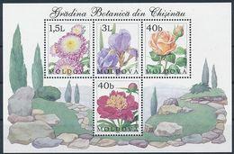 Mi Block 26 MNH ** / Flowers Of The Chișinău Botanical Garden - Peony, Rose, Aster, Iris - Moldavie