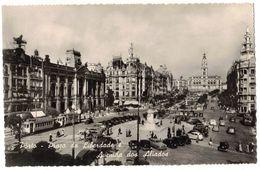 PORTUGAL PORTO :  PLACA DA LIBERDADE AVENIDA DOS ALIADOS - CARTE PHOTO - TRAMWAYS VOITURES - Porto