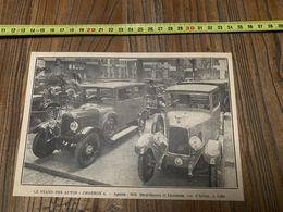 ANNEES 20/30 STAND DES AUTOMOBILES AUTOS CHARRON BECQUERIAUX LESTIENNE RUE D ARTOIS LILLE - Collections