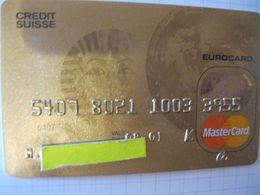 "Carte De Credit "" Tous Pays Credit Suisse    Bank"" - Credit Cards (Exp. Date Min. 10 Years)"