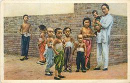 2 CPA Asie Chine Chinese Children Peking Beijing Pékin Hartung's Photo Shop + Child In Summer Dress - Cina