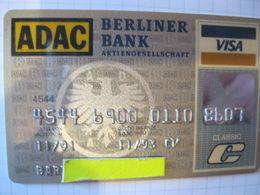 "Carte De Credit "" Tous Pays Adac  Karte    Bank"" - Credit Cards (Exp. Date Min. 10 Years)"