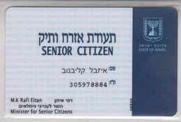 ISRAEL SENIOR CITIZEN CARD - Otras Colecciones