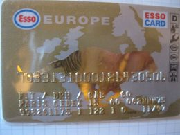 """Carte De Credit """" Tous Pays """"esso Europe"""" - Credit Cards (Exp. Date Min. 10 Years)"""