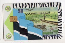 BOTSWANA REF MV CARDS BOT-13 HIPPOPOTAME P25 CN On Picturial Side - Botsuana