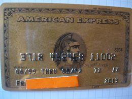 """Carte De Credit """" Tous Pays """"american Express"""" - Credit Cards (Exp. Date Min. 10 Years)"""