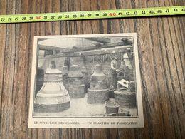 ANNEES 20/30 NOYAUTAGE DES CLOCHES CHANTIER DE FABRICATION - Collections