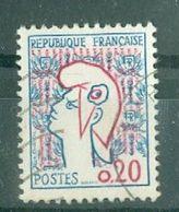 FRANCE - N° 1282 Oblitéré - Type Marianne De Cocteau (I). - 1961 Marianne De Cocteau