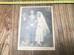 ANNEES 20/30 MARIAGE DE THIBEAU ET LORTHIOIS - Collections