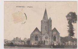 62  AUDRUICQ  - Eglise Cimetière  - CPA  N/B 9,5x14 BE - Audruicq