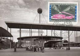 N° 1052 EXPO 58 Sur Carte-maximum - Maximum Cards