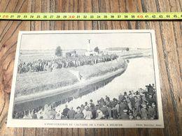 ANNEES 20/30 INAUGURATION DU CALVAIRE DE L YSER A DIXMUDE - Collections