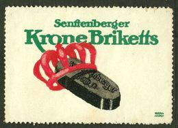 "Senftenberg Lausitz Brandenburg 1913 "" Krone Briketts "" Art Deco Vignette Cinderella Reklamemarke - Erinofilia"