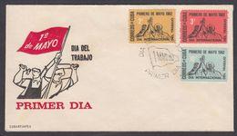 CUBA 1962. PRIMERO DE MAYO. EDIFIL 924/26 - FDC