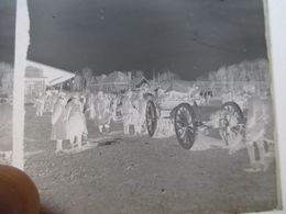 GUERRE 1914-18 - Plaque De Verre Stéréo Négative - 6 X13 - - Militaires Et Attelage  - BE - Diapositiva Su Vetro
