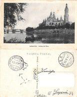 Zaragoza. Orillas Del Ebro. Viaggiata 1938 - Zaragoza