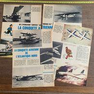 DOCUMENT LA CONQUETTE AERIENNE ATLANTIQUE NORD DESSIN HERGE TINTIN AVIATEUR - Collections